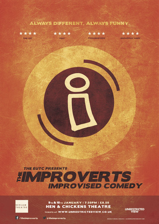 The Improverts  9th & 10th Jan 7.30pm £8.50