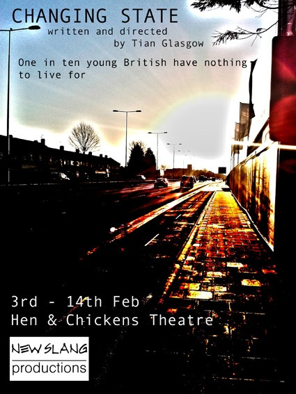 Changing State by Tian Glasgow 3rd – 14th Feb, Tues – Sat at 7pm, and Sat Mat 2.30pm £13.50/£10.00
