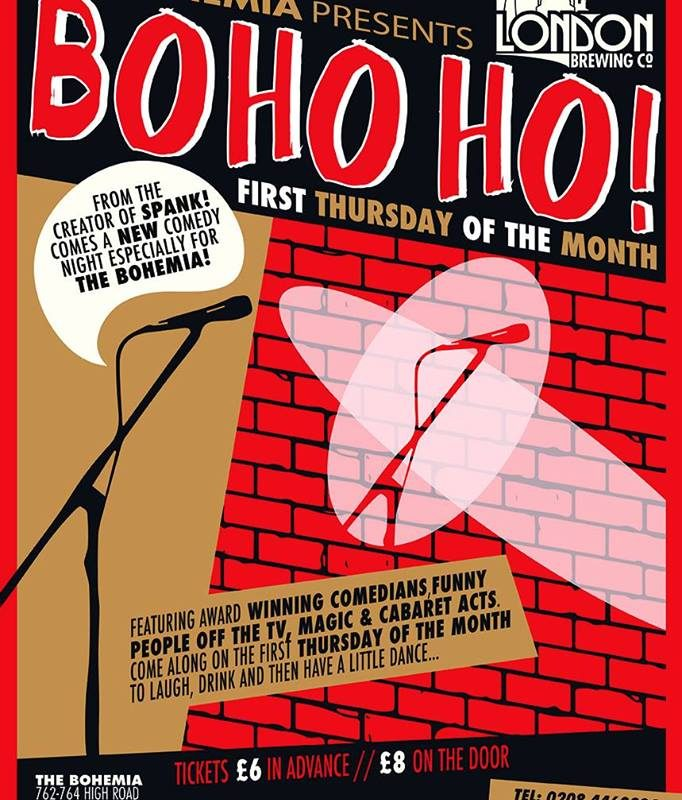 BOHO HO! at The Bohemia pub N12